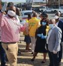 Premier Sihle Zikalala Pleased with Lockdown Compliance at Pension Paypoints in Port Shepstone