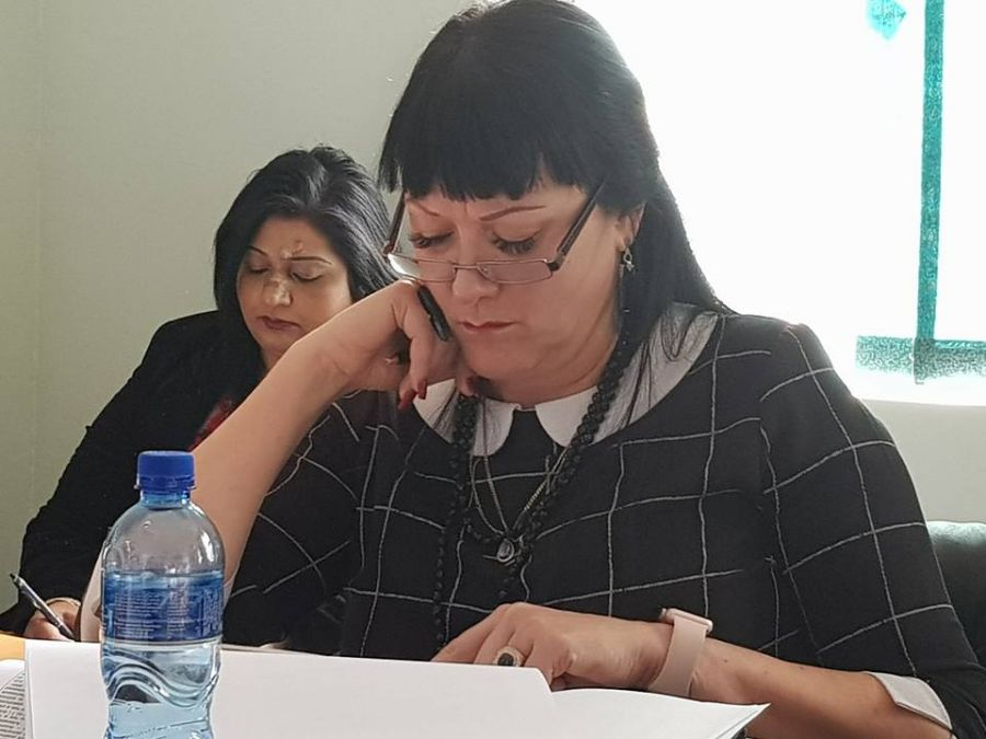 MEC Belinda Scott leads her district team from KZN Legislature
