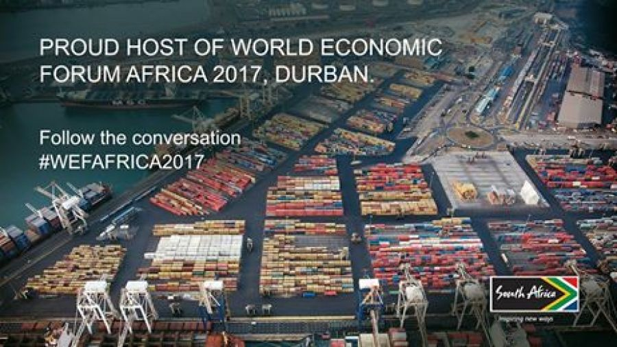 President Zuma welcomes delegates to the world economic forum on Africa in Durban