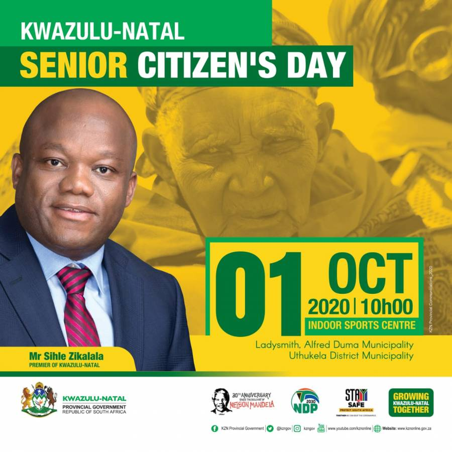 KZN Premier to observe International Older Persons Day with elderly in Ladysmith