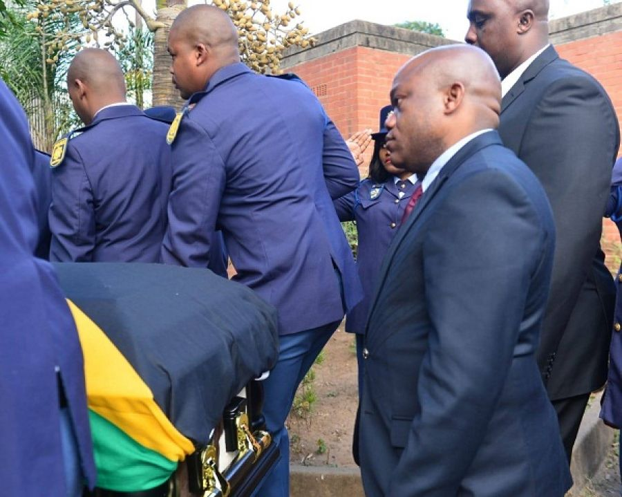 Kwazulu Natal Premier Sihle Zikalala Attends The Funeral Services Of