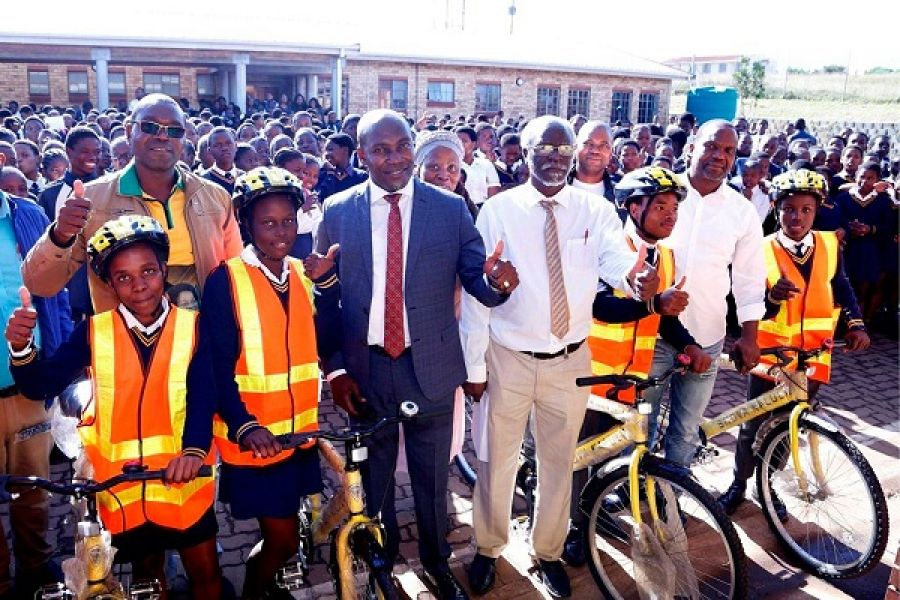 KZN Transport, Community Safety and Liaison, Mxolisi Kaunda Handed Over 50 Bicycles to Nkombose High School Learners in Mtubatuba